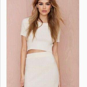 Knitz For Love and Lemons Snuggler Ribbed Skirt